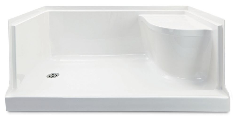 Dreamline Slimline 54 In D X 32 In W Single Threshold Shower