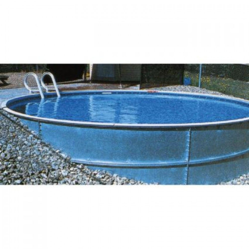 The rockwood 24 x 52 round swimming pool with liner skimmer everything you need to start building your own semi inground pool available at pool supplies canada solutioingenieria Image collections