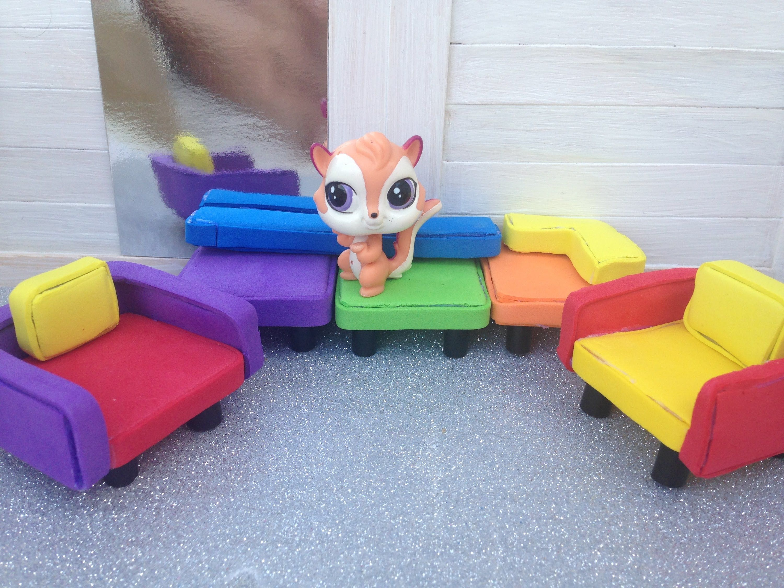 How to make LPS Furniture couch & chair