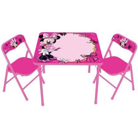 The Disney Minnie Mouse Erasable Activity Table Set with 3 Markers ...