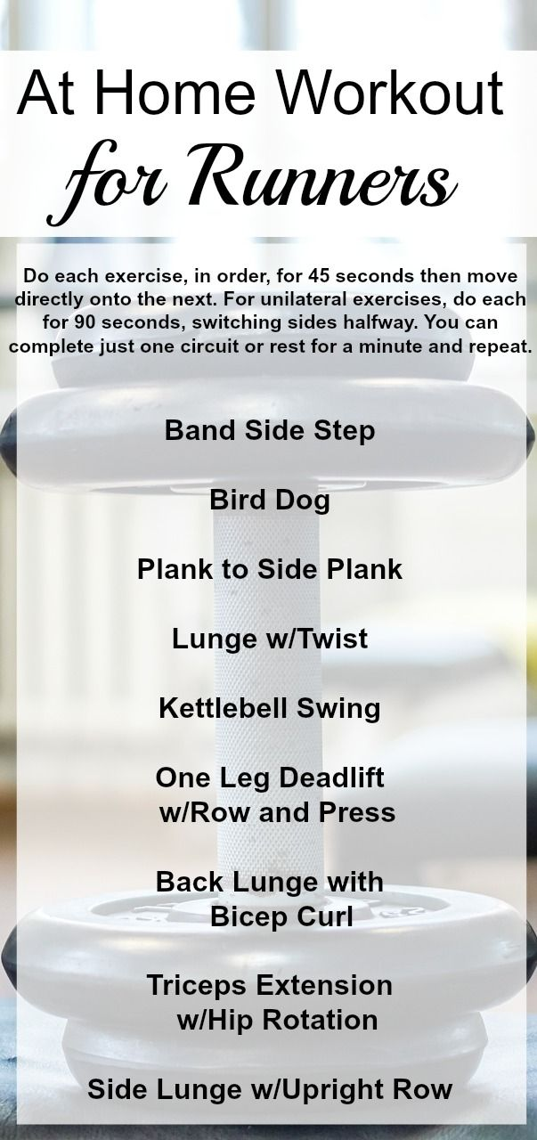 At Home Workout for Runners: Total Body Strength to Improve Your Running