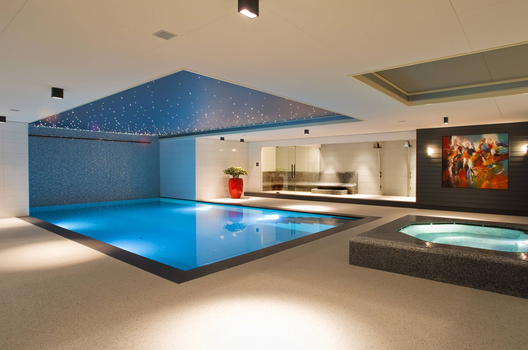 Modern Pool With Jacuzzi