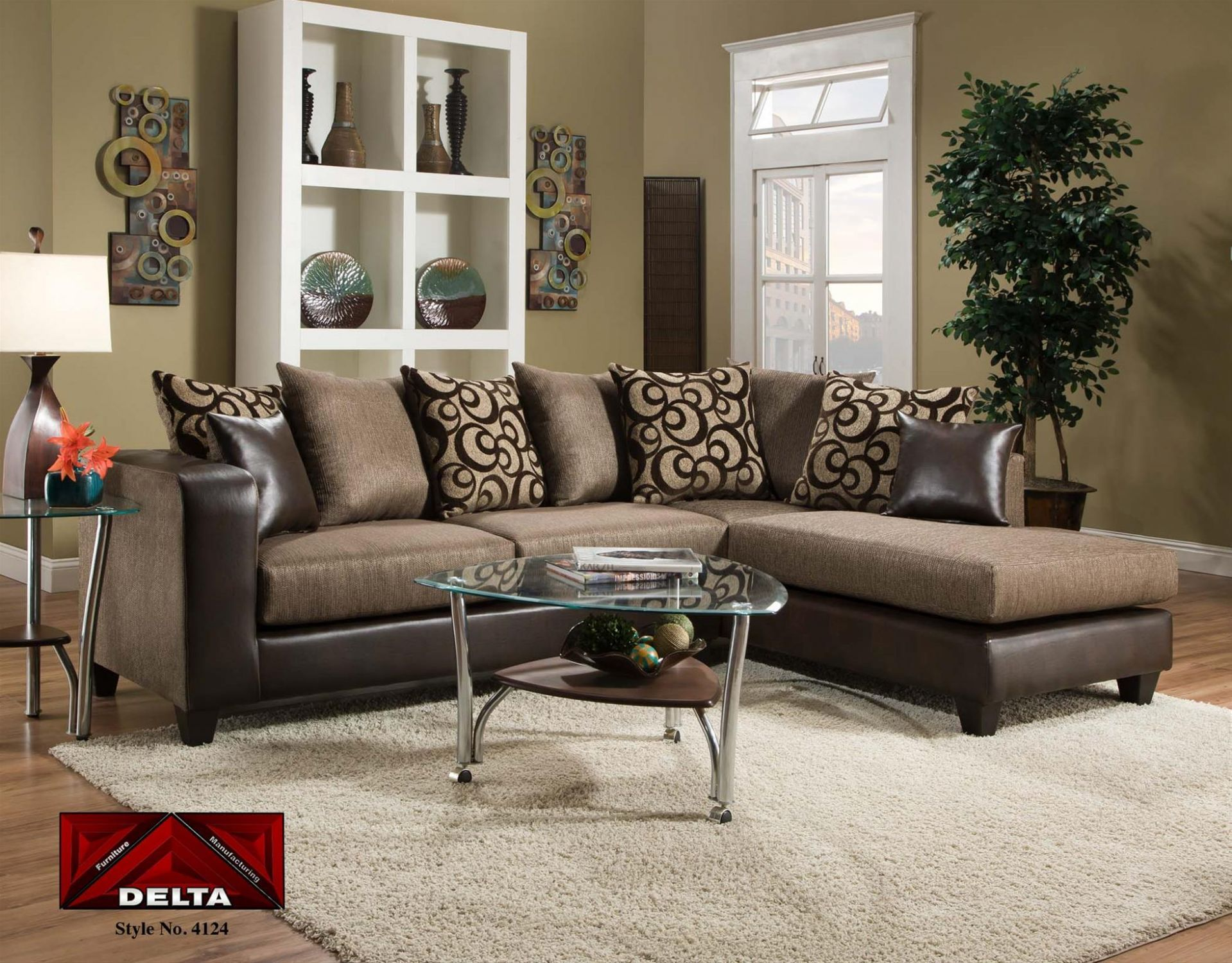 Update your living room with our Designer Chaise Sectional