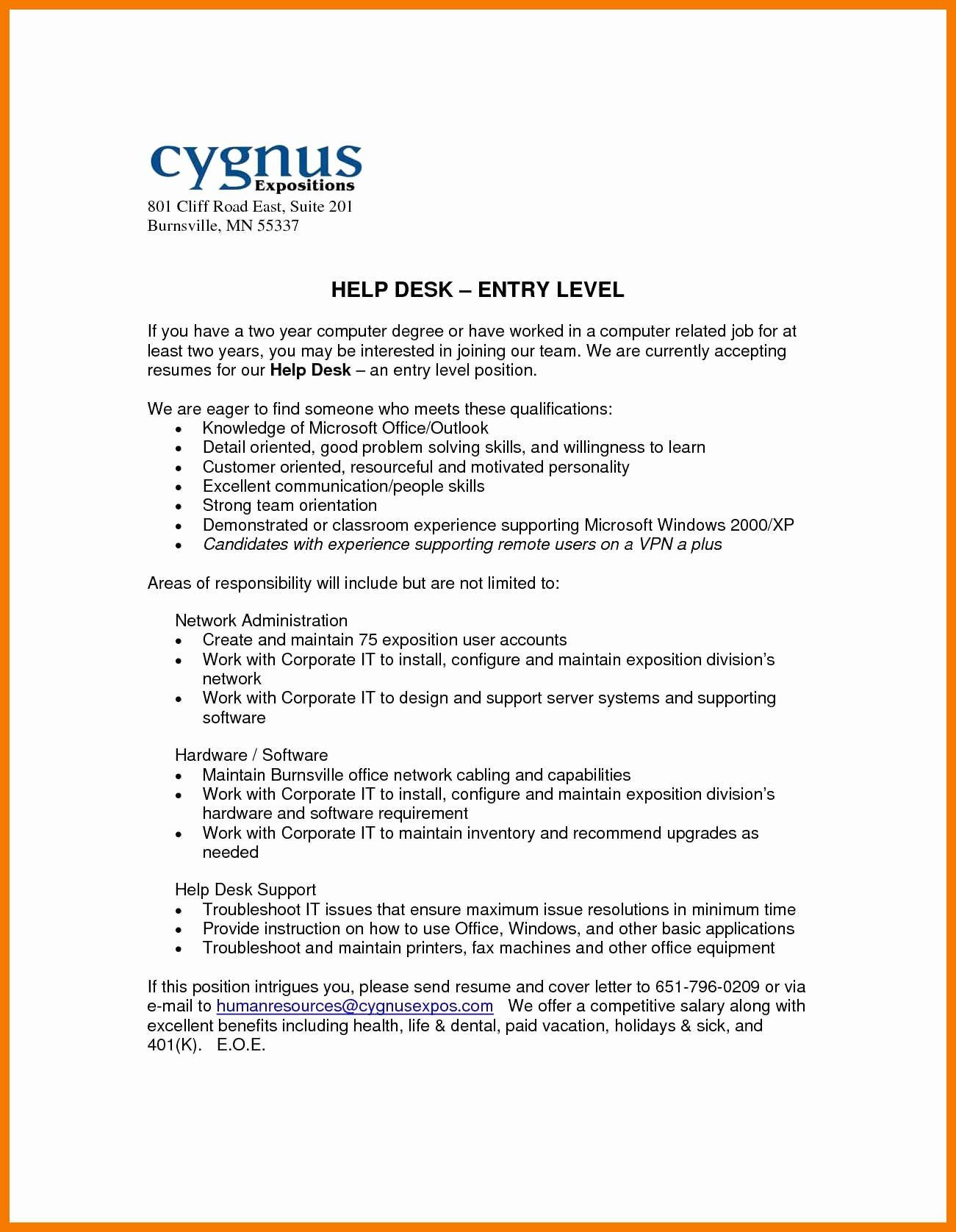20 entry level help desk resume with images resume