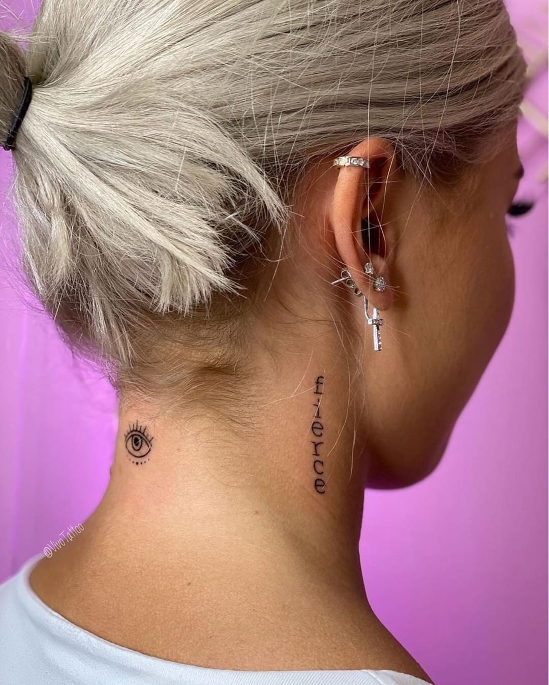 Small Tattoos For Girls On Instagram Self Confidence Is The Best Outfit Rock It And Own It In 2020 Neck Tattoos Women Behind The Neck Tattoos Girl Neck Tattoos