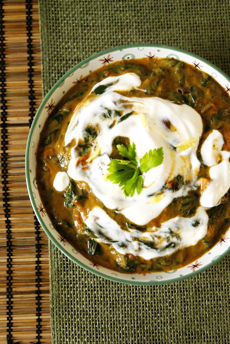Moja wersja Aloo Palak, czyli ziemniaki ze szpinakiem po indyjsku   Szpinakowa