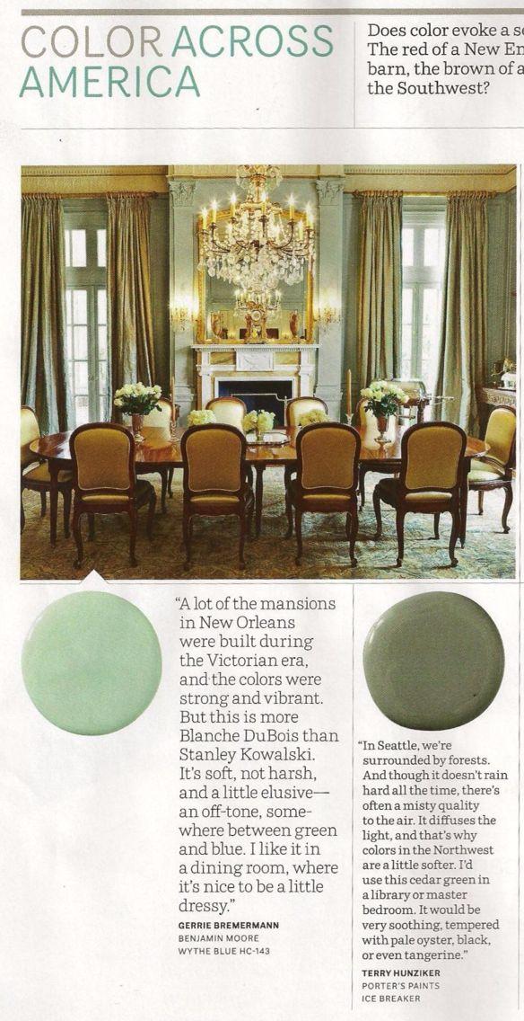 Wythe Blue Hc 143 Dining Room Benjamin Moore Paints