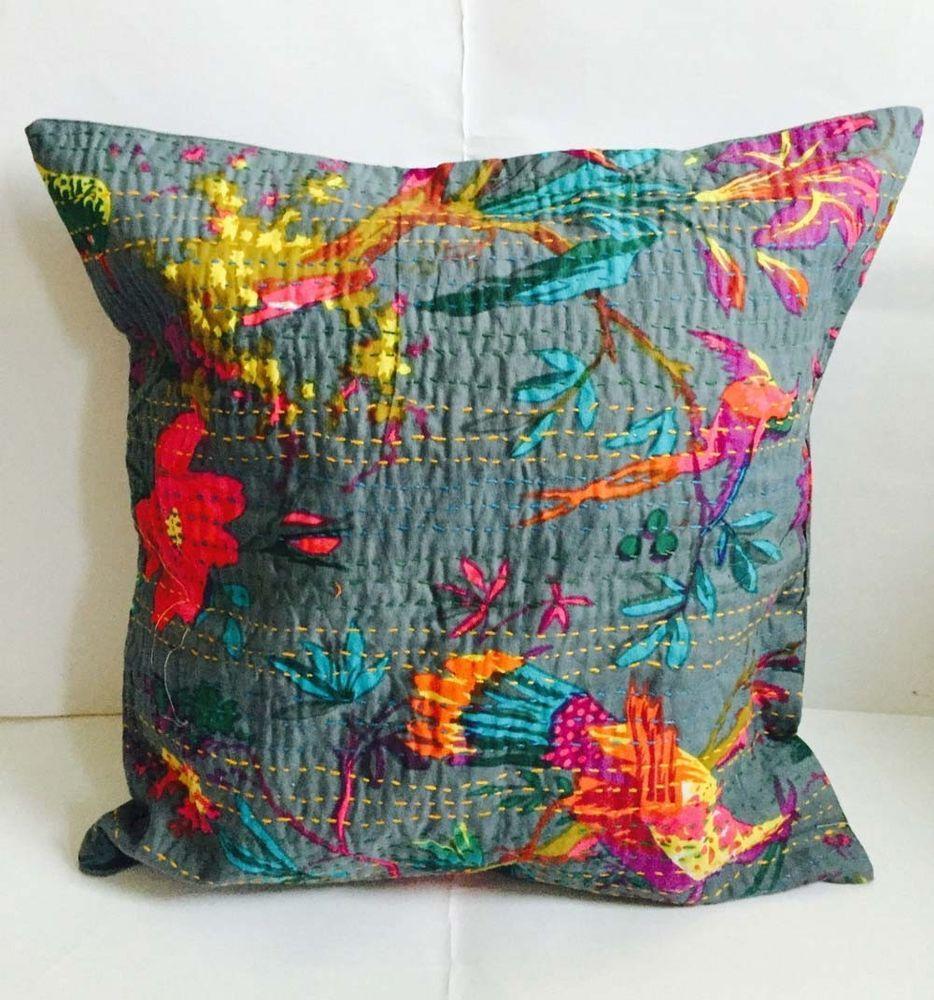 Best Set Of 5 Handmade 16X16 Bird Cotton Hippie Bohemian 400 x 300