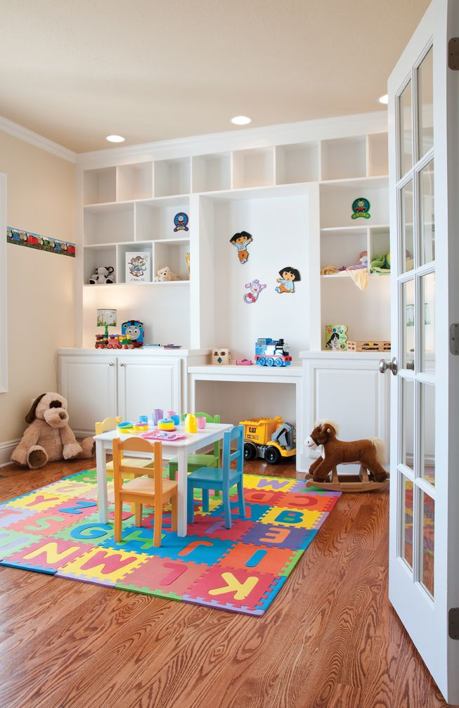 I know in this picture it depicts the room as a playroom for Kids play rooms