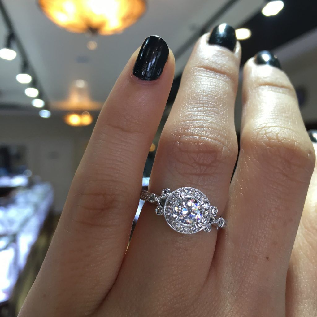 Victorian style halo engagement ring say yes to the dress