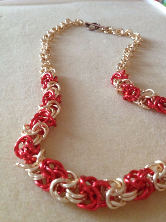 Copper Two Tone Byzantine Necklace by InfiniteEnigma on Etsy, $35.00