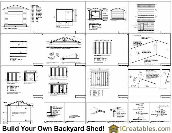 12x16 Shed Plans With Garage Door 10x12 Shed Plans Diy Shed Plans Free Shed Plans