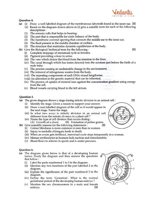 ICSE-10th-Biology - Mock Test Paper-1 part-4   BIOLOGY