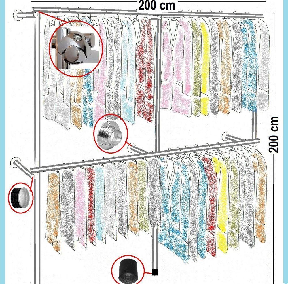 Cool Details zu Begehbarer Kleiderschrank Kleiderstange Gardeobenst nder Kleiderst nder Art W