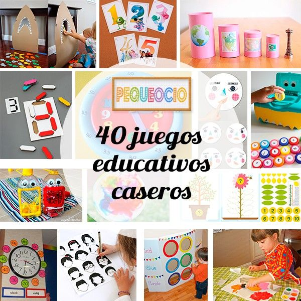 40 Juegos Educativos Caseros Actividades Para Ninos Pinterest