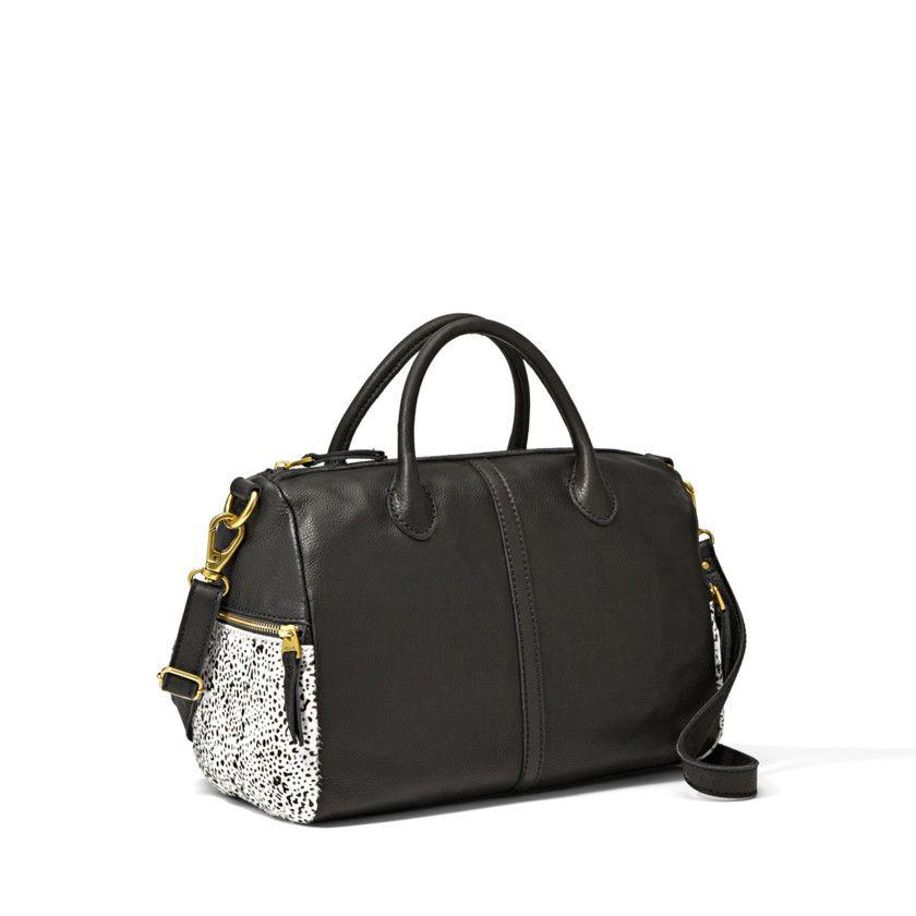 Erkunde Handtaschen, Schwarz-weiß-druck und noch mehr! Fossil Erin Satchel  ...
