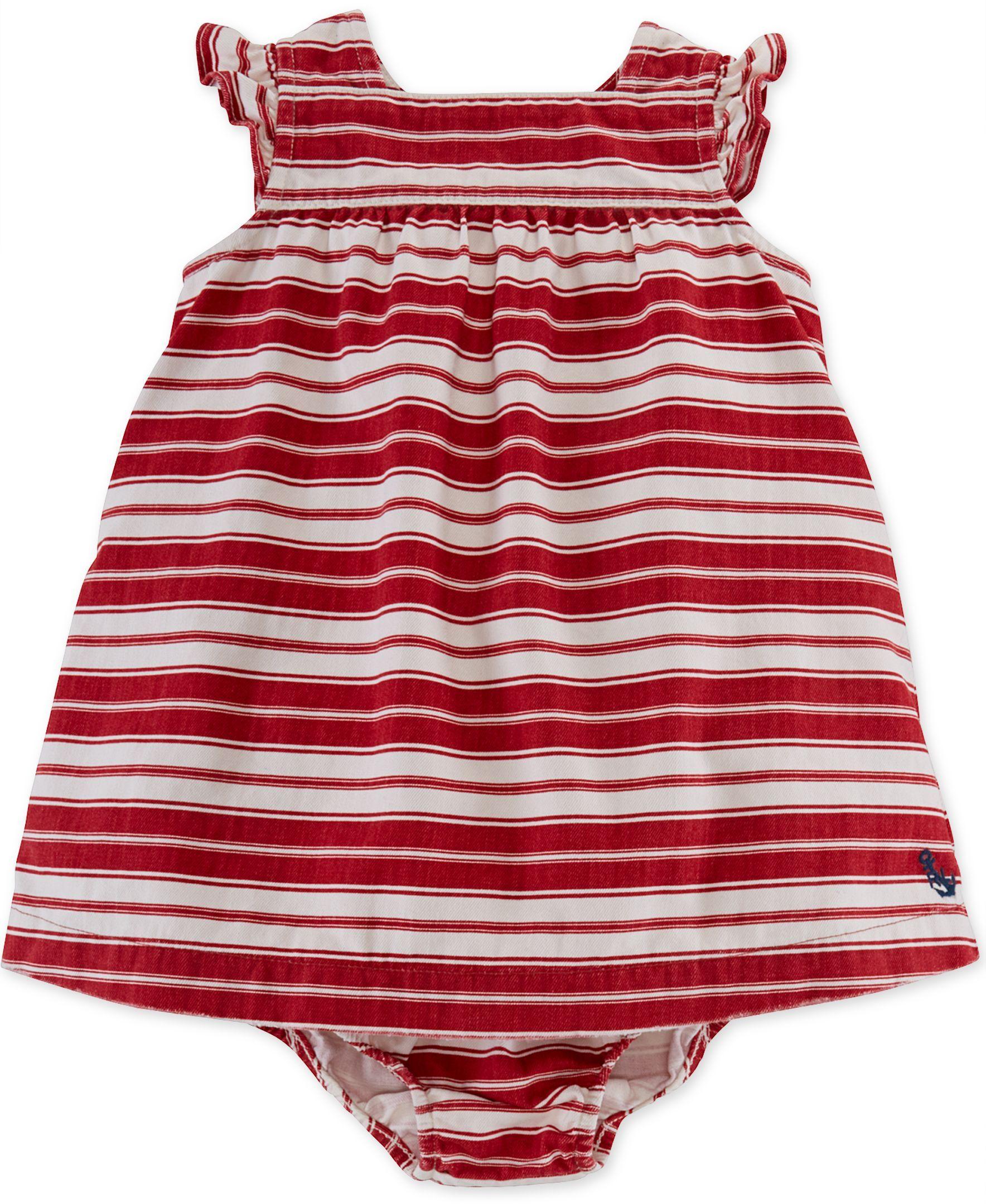 9280cce14 Ralph Lauren Baby Girls  Striped Ruffle Dress