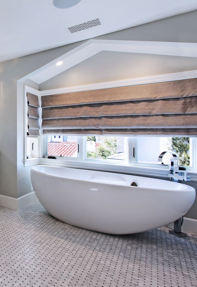 Oval freestanding tub and tub filler. Who wouldn\'t love to relax in ...