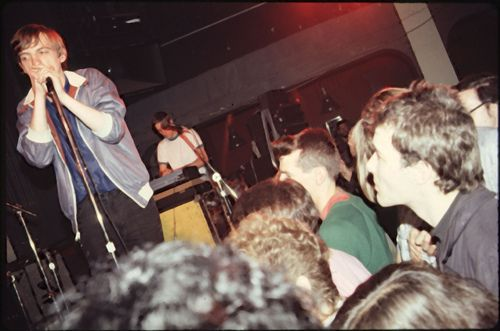 The Fall in San Francisco, 1981. Jello Biafra watching in the crowd.