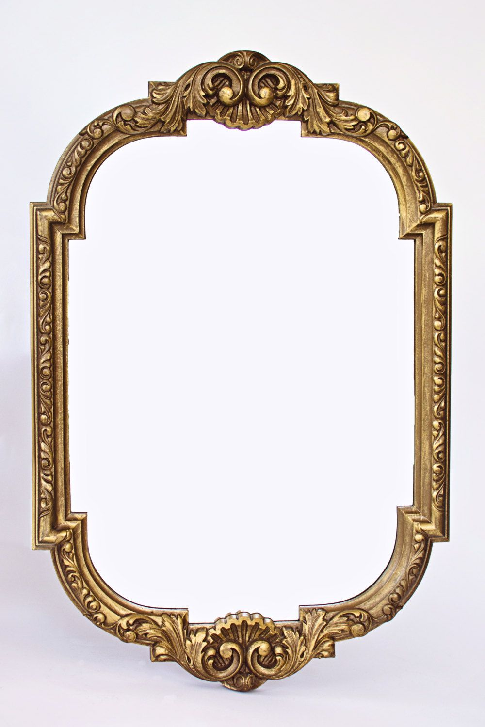 antique oval mirror frame. Decorative Mirror, Ornate Antique Brass Resin Mirror Frame, Gesso- Oval Frame