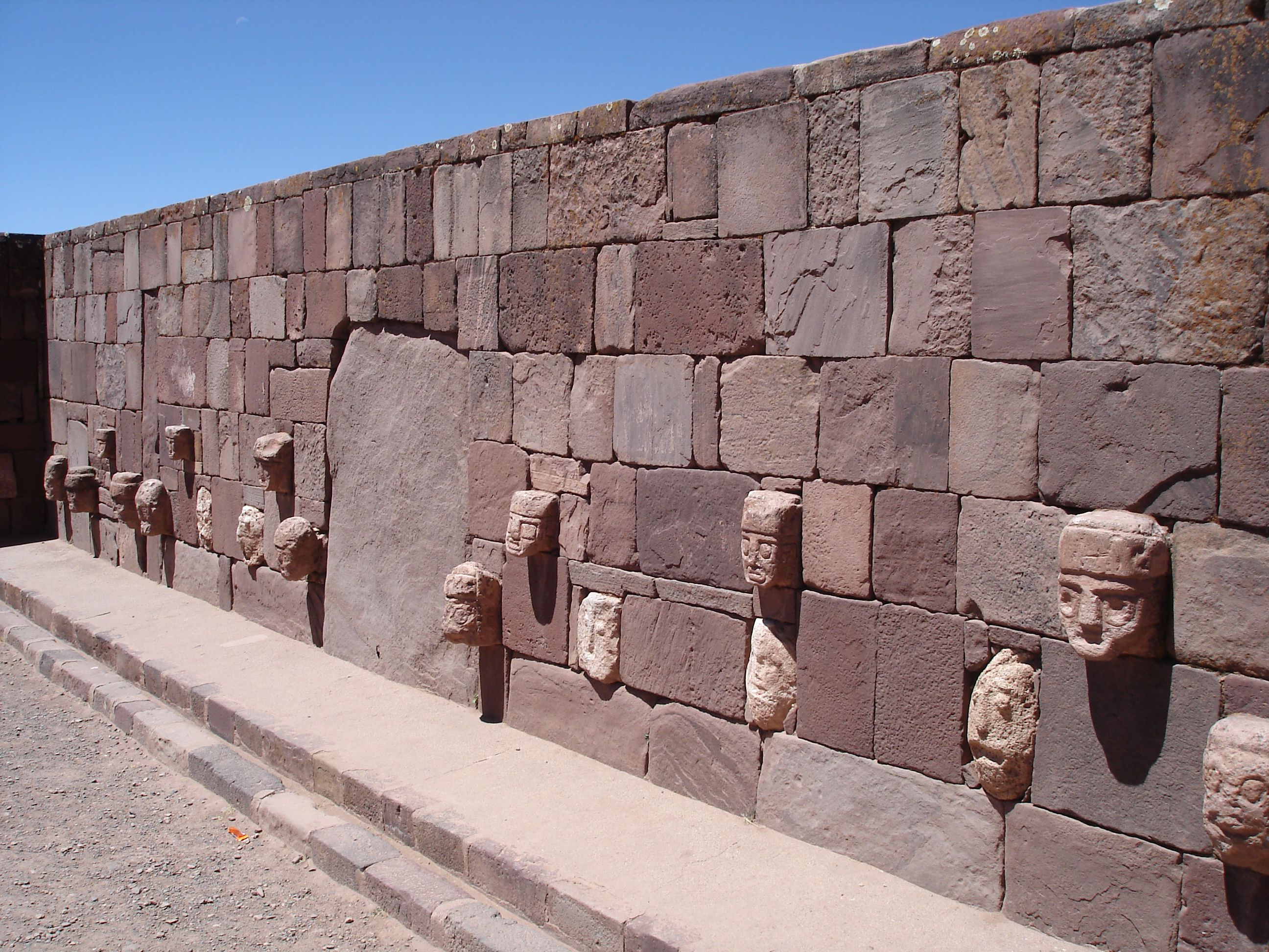 Tiwanaku stone wall