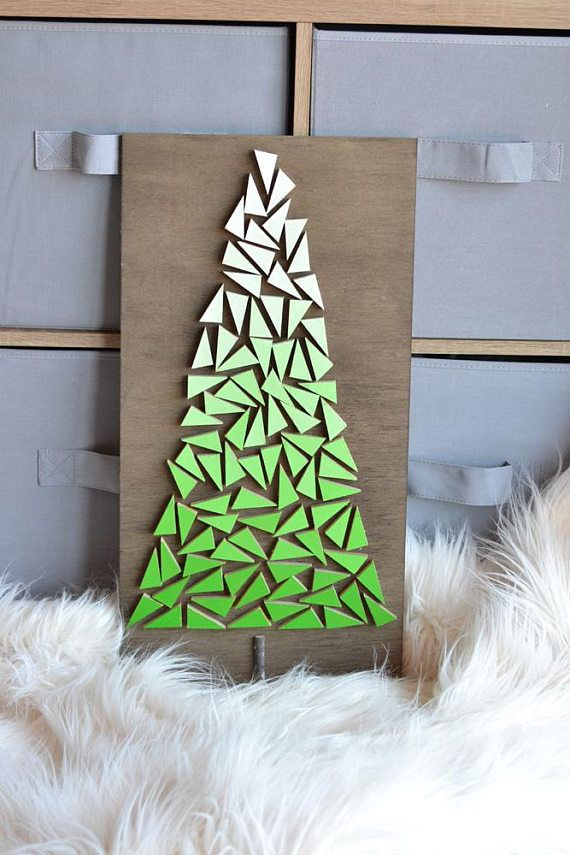 Green Mosaic Christmas Tree Large Sign With Images Picture Quilts Stencil Crafts Paper Flower Template