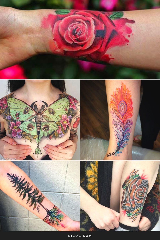 Los Más Coloridos Tatuajes Para Mujeres Creativas Tatuajes Mujeres