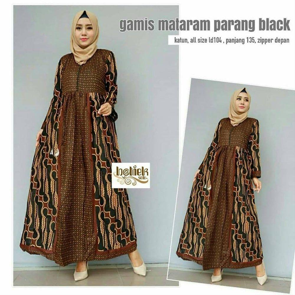 Model Gamis Batik Parang  Model pakaian muslim, Baju muslim