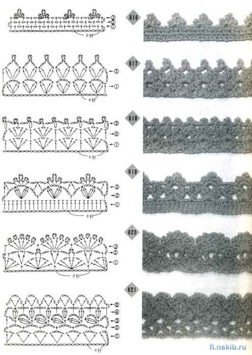 Galería de Emy: Bordes de ganchillo patrón …   Pinteres…