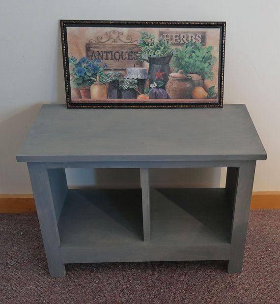 Attractive 24 Inch Stained Entryway Bench Shoe Cubby Cubby Storage Bench Bench Seat  Entertainment Center