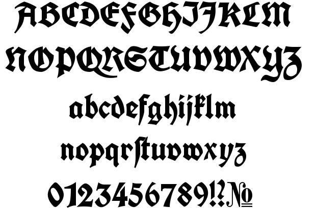 Http Www Fontriver Com I Fonts Koch Fette Deutsche Schrift