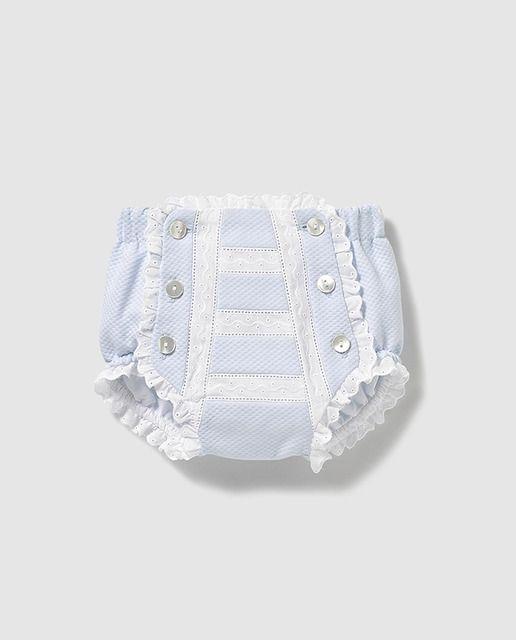 8528735679ef Cubrepañales de bebé en azul con puntilla · Dulces · Moda · El Corte Inglés