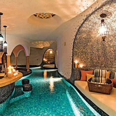 Indoor Home Swimming Pool With Swim Up Bar U Think We Could Fit