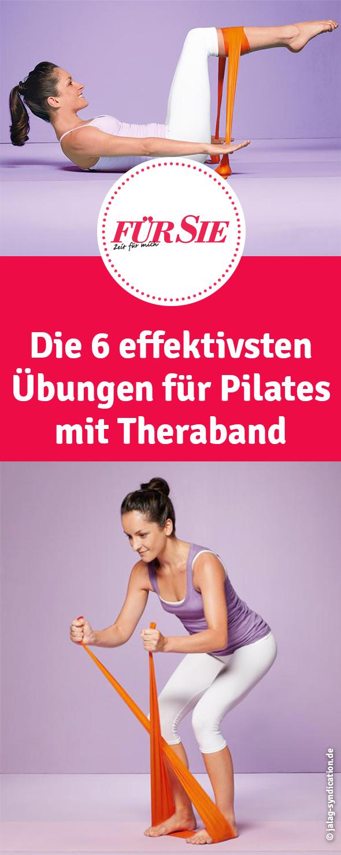 Pilates mit dem Theraband #pilatesroutines