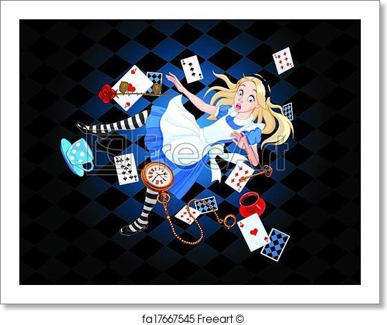 Falling Alice - Framed Artwork - Art Print from FreeArt.com
