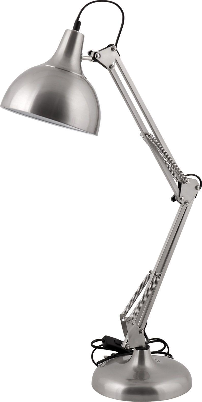 lampe poser en acier bross sur un style industriel dans ma maison lampe poser style. Black Bedroom Furniture Sets. Home Design Ideas
