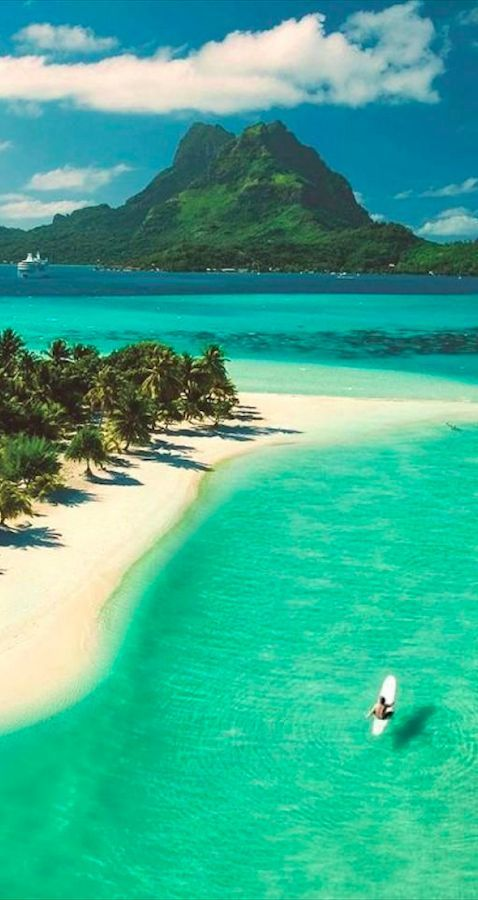 beautiful pearl beach on bora bora in french polynesia. Black Bedroom Furniture Sets. Home Design Ideas