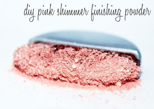 DIY Beauty - Handmade Pink Shimmer Finishing Powder Makeup
