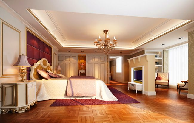 European Modern Classic Bedroom Design