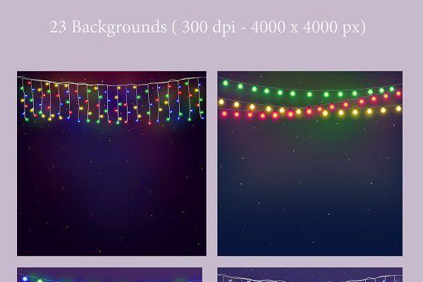 String Lights v.2 by MixPixBox on @creativemarket