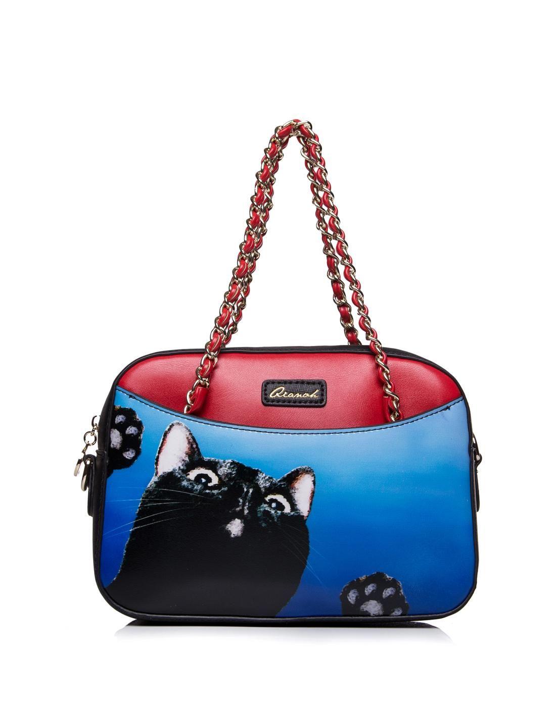 AdoreWe  VIPme Totes - QIANBH Cat Pattern Shoulder Bag with Chain Belt -  AdoreWe.com 6517d94da8977