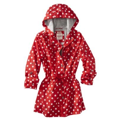 Mossimo Women's Rain Anorak - polka dots and red...need I say more ...