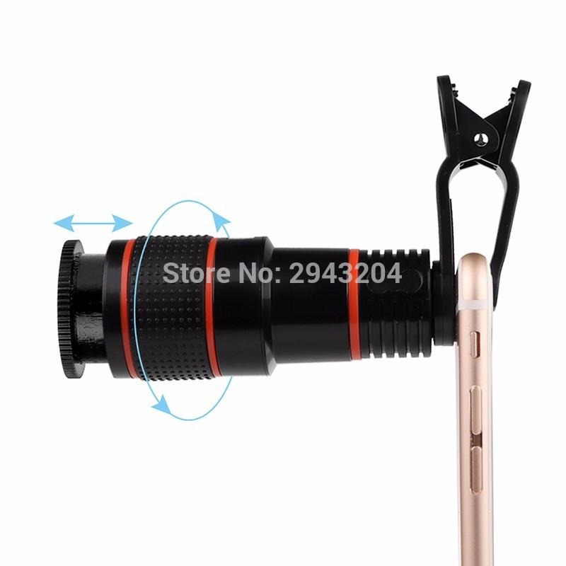 12x Optical Zoom Clip Mobile Phone Telescope Lens For Iphone In