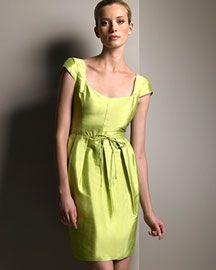 Armani Collezioni Silk Shantung Dress Designer Bergdorf Goodman
