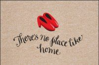 Kitchen Floor Mats - No Place Like Home Indoor or Outdoor Olefin Floor Mat - Doormat. $19.99 Only.