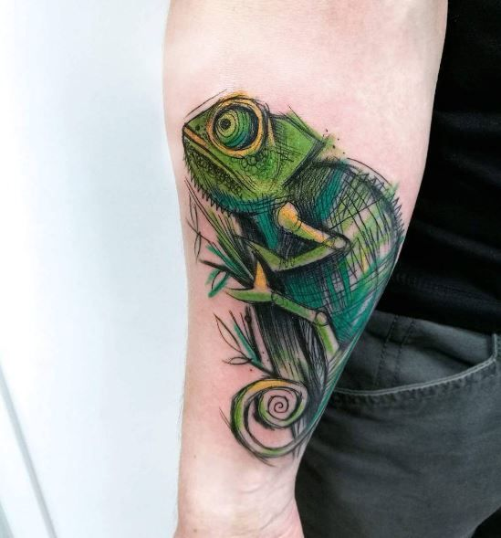 60 Colorful Chameleon Tattoo Ideas: Chameleon Tattoo, Chameleons And Tattoo