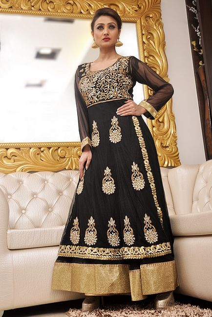 20f1cbbae50b0 Black Anarkali Suit Online With Embroidery