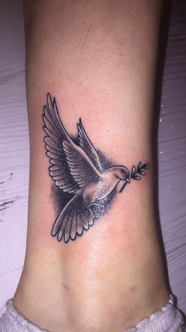 Absolute adore my tattoo in memory of my uncle  #Dove #Tattoo