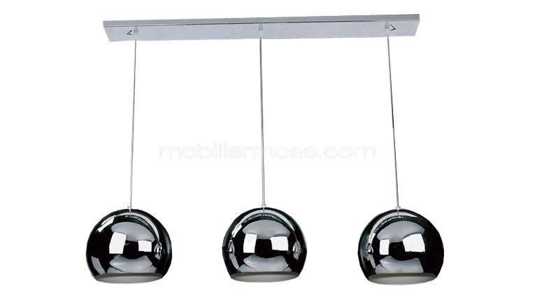 Lustre design avec 3 suspensions métal Ally