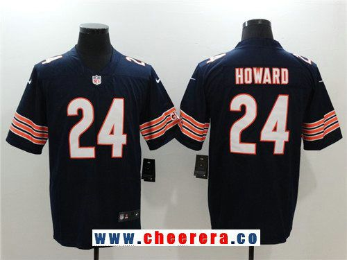 f18b50ec020 ... Jersey 24 White Mens Elite NFL Drift Fashion Mens Chicago Bears 24  Jordan Howard Navy Blue 2017 Vapor Untouchable Stitched NFL Nike Limited ...